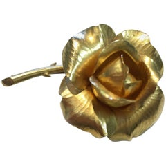 Tiffany & Co. Vintage Gold Rose Brooch or Pin