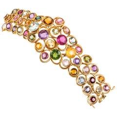 Bilbault Destabeau Cheerful Precious Stone 18 Karat Gold Bracelets