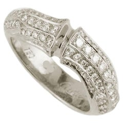 Cartier White Gold Diamond Set Bamboo Ring