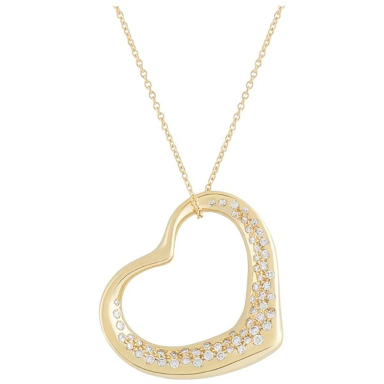 Tiffany & Co. Yellow Gold Diamond Elsa Peretti Necklace