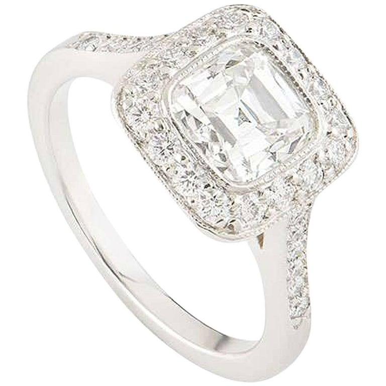 Tiffany & Co. Platinum Legacy Diamond Ring 1.54 Carat