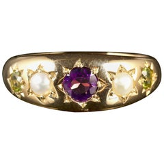 Antique Victorian Suffragette Ring Gypsy Set, circa 1900