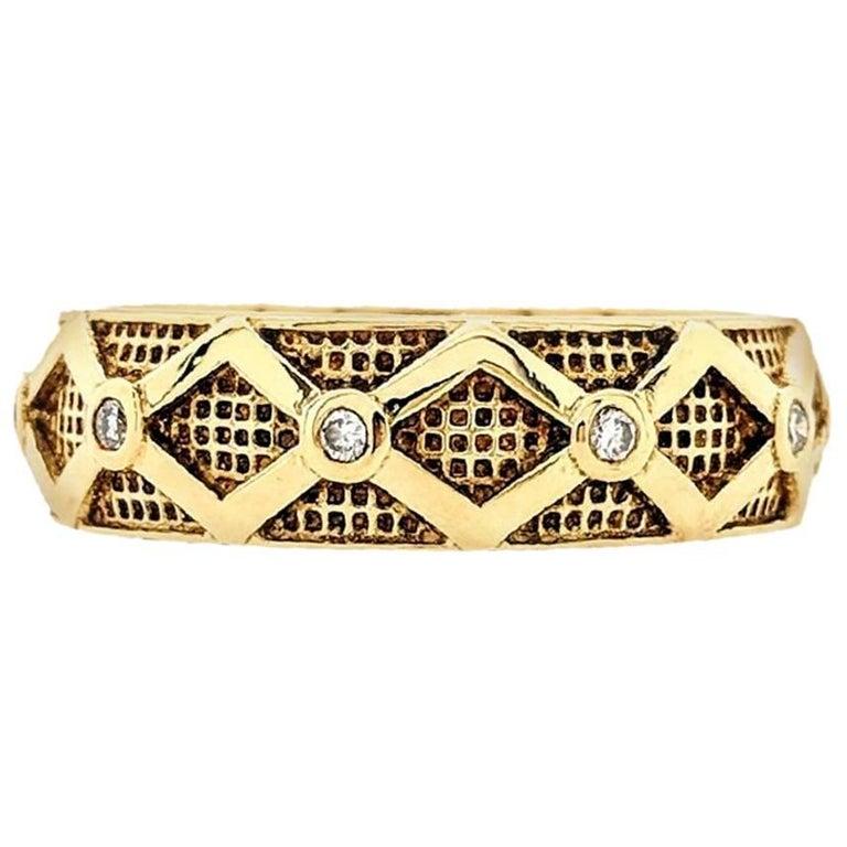 Hidalgo 18 Karat Yellow Gold Diamond Eternity Band Ring