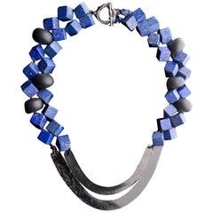 Lapiz-Lazuli, Onix and Obsidian Necklace