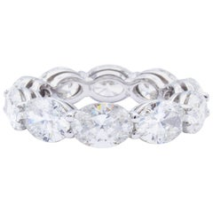 David Rosenberg 7.44 Carat Platinum Oval Shape Diamond Eternity Wedding Band