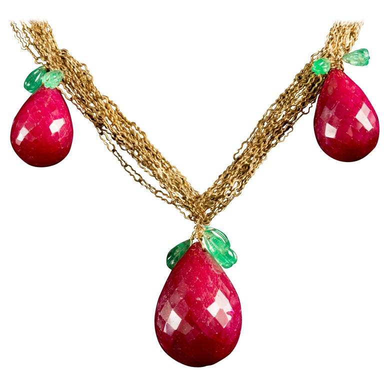 Ruby Pears Necklace