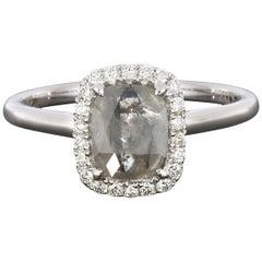 .56 Carat Greyish Rough Diamond Engagement Ring