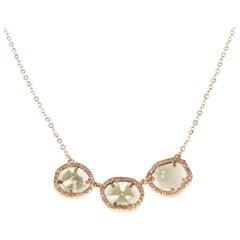 Diamond Slice Gold Trio Necklace