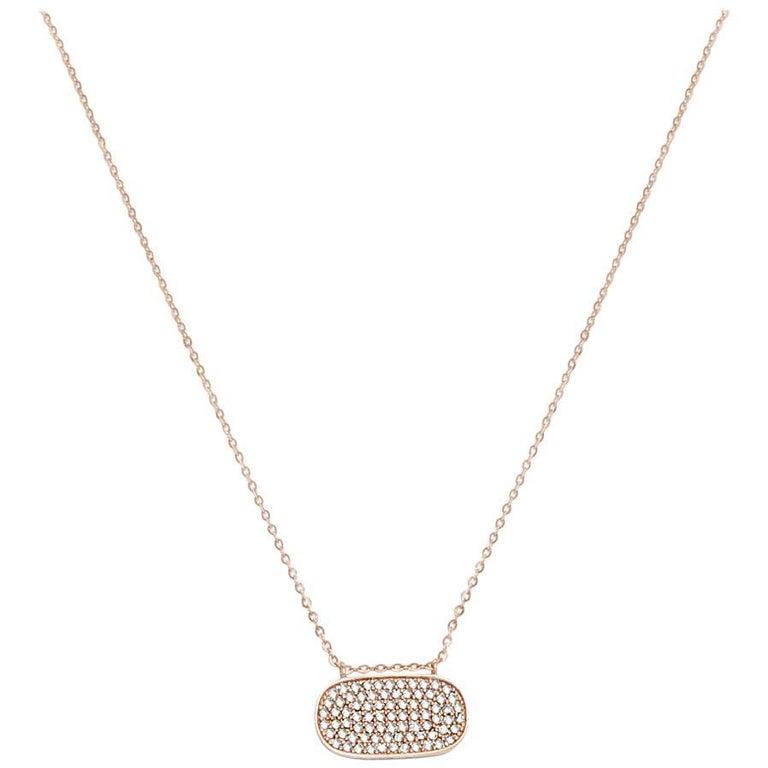 Oval Diamond Pave Necklace