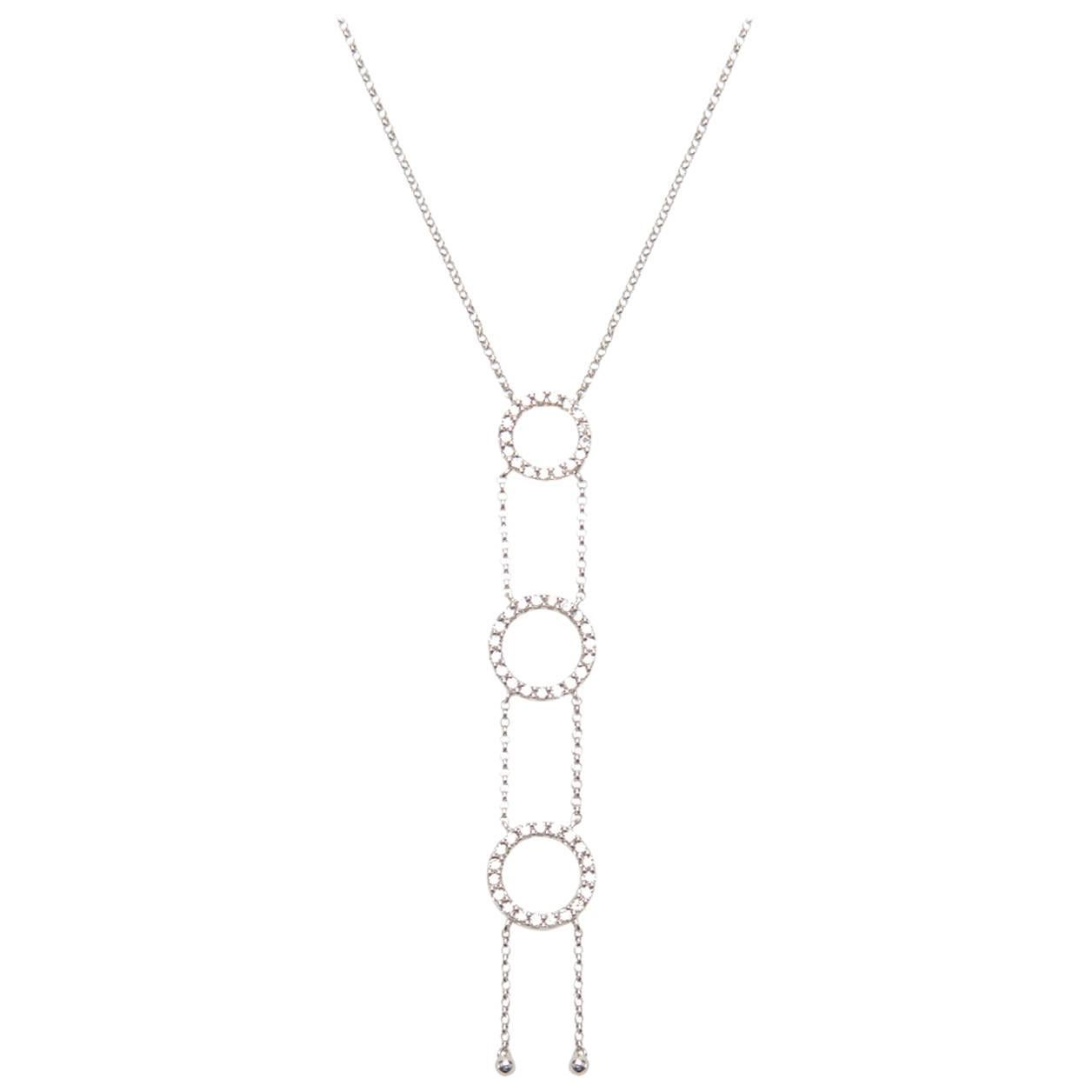 Three Circle Vertical Necklace