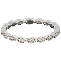 Gabriel & Co Scalloped Stackable Diamond Wedding Band Ring with Marquise Shapes