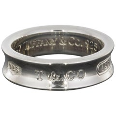 Tiffany & Co. Sterling Silver Men's Engraved Wedding Band