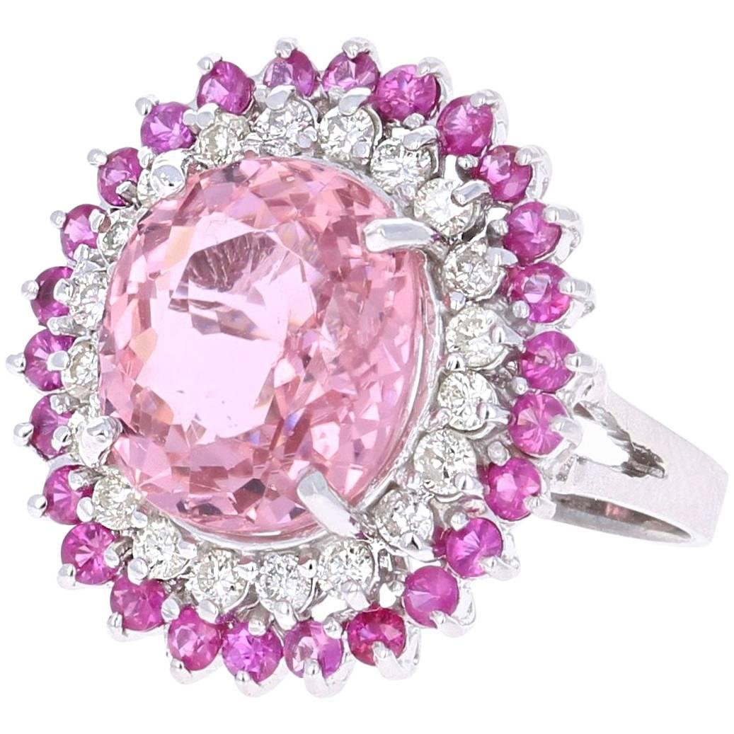 Rubellite Pink Sapphire Pink Tourmaline Clustered Rose Gold Dome ...