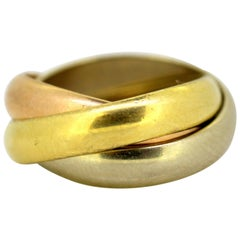 Cartier 18 Karat Gold Trinity Ring, France, 1988