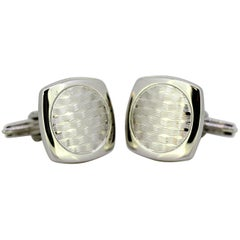 Dunhill, Sterling Silver Men's Cufflinks, circa 2000s