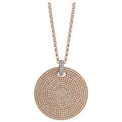Tivon 18ct Rose and White Gold pave set Glitz and Glam Diamond Pendant