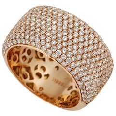 Tivon 18 Karat Rose Gold Pave  Diamond Dress Band Ring