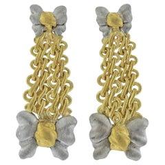 Buccellati Gold Bow Drop Earrings