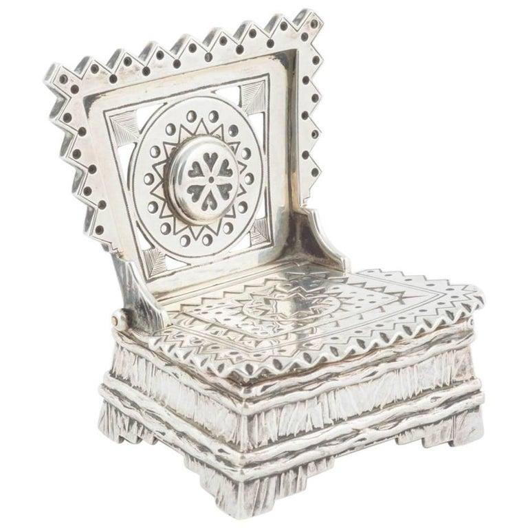 Russian Silver Salt Throne by Sazikov, circa 1880 For Sale