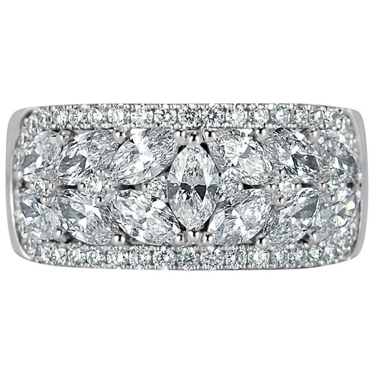 Mark Broumand 2 40 Carat Round Brilliant Cut Diamond Right Hand Ring For