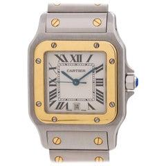 Cartier Yellow Gold Stainless Steel Santos Galbe Quartz Wristwatch, circa 1990s