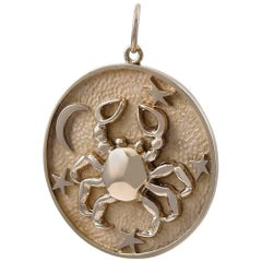 Gold Cancer Astrological Charm/Pendant