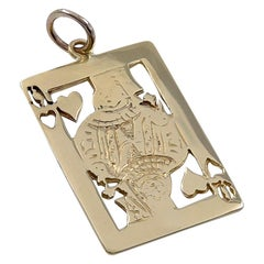 Gold Queen of Hearts Charm