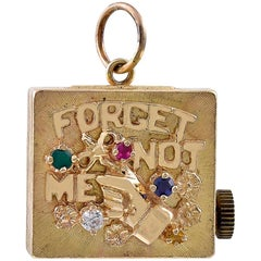 Gold Forget-Me-Not Music Box Charm