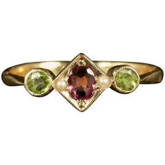 Antique Victorian Suffragette 9 Carat Ring Gold Ring, circa 1900