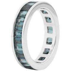 Fouché Art Deco Tourmaline Eternity Band Ring Platinum