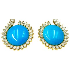 Trabucco, Turquoise and Diamond Earrings