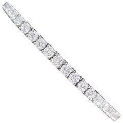 5 Carat Diamond Tennis Bracelet in 18 Carat White Gold