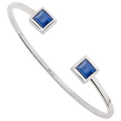 GIA Certified 2.4 Carat Blue Sapphires Bangle