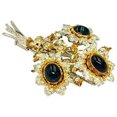 Buccellati Sapphire and Diamond Brooch