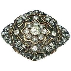 Art Deco Brooch, Silver, Gold and Diamond
