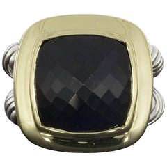 David Yurman Albion Collection Cushion Cut Onyx Ring