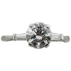 Classic Diamond Solitaire in Platinum H VS1 GIA