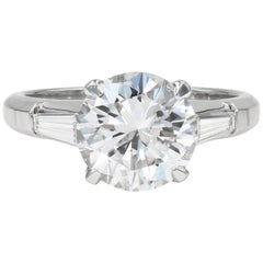 GIA Certified 3.03cts. Round Diamond set in a Lester Lampert Signature Mounting