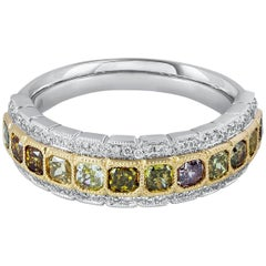 Fancy Color Radiant Cut Diamond Fashion Ring
