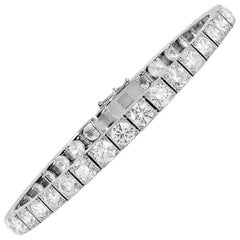 14.00 Carat  Diamond Platinum Block Bracelet