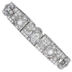 Old European Cut Diamond Art Deco Bracelet