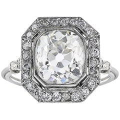 2.78 Carat Old European Cut Diamond Ring