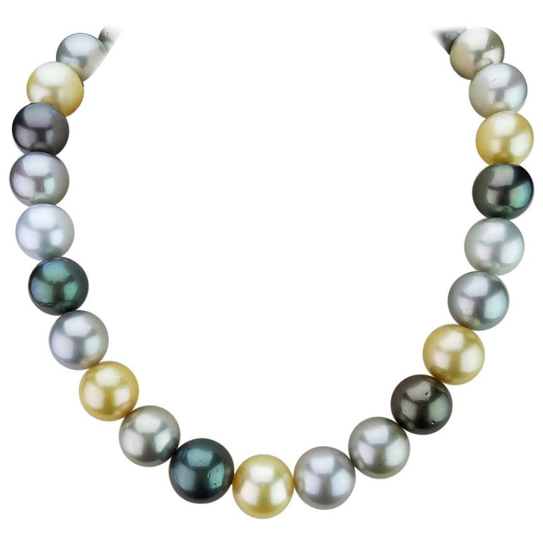 Multicolored Natural South Sea Pearl Necklace