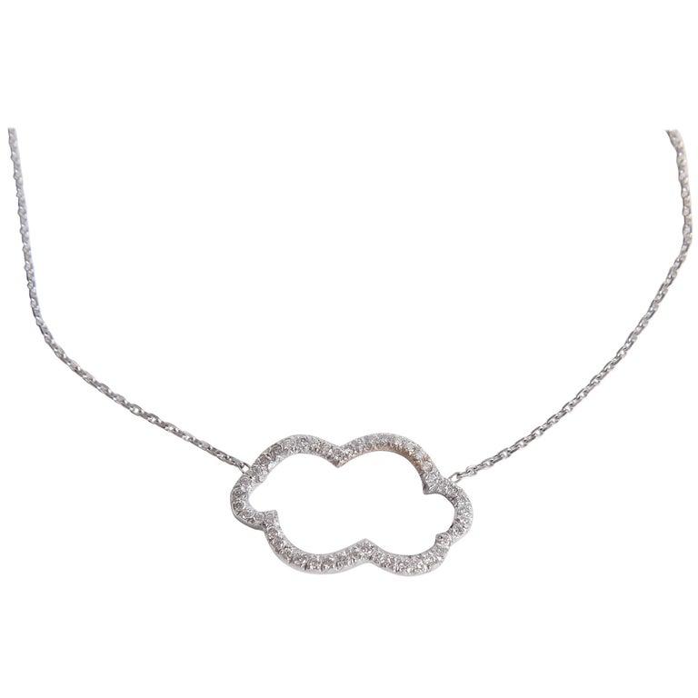 Diamonds Cloud 18 Karat White Gold Pendant by Marion Jeantet