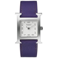 Hermès Stainless Steel Heure H Quartz Wristwatch