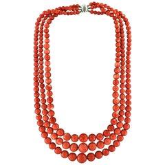 """Coral """"Momo"""" Multi-Strand Necklace"""