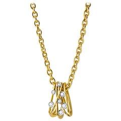 Diamond and Yellow Gold Van der Veken Varens Pendant