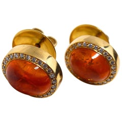 Leyser 18k Rose Gold Mandarin Garnet Earrings