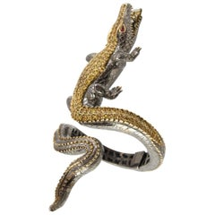 Crocodile Loving Diamond Bracelet by Terzian