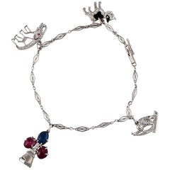 Platinum Charm Bracelet